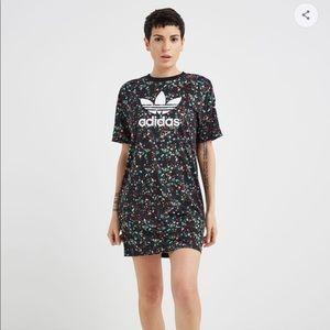 Adidas Originals Floral T-Shirt Dress